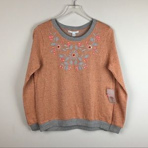 Anthropologie Alpha Moment Metallic Thread Sweater